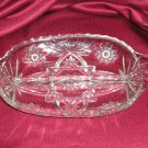 Leonard Crystal Glass Relish Dish