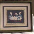 Picture of 3 Ducks, Signed by B. Summers, Art Print, Framed and Matted