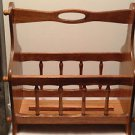 Vintage Wood Magazine Holder /Book Rack The Commodore Collection by Rosalco