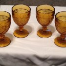 A Tiara Exclusive Set of 4 Amber Water Goblet Glasses