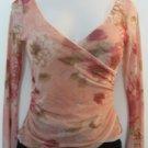 Trendy Floral Print Sheer Long Sleeve Top - Express (Medium)