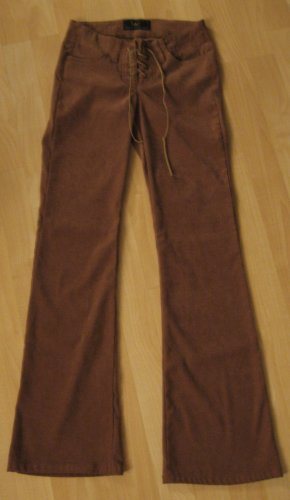 Juniors Brown Low Rise Flare Pants - L.E.I (Size 1, Extra Small)