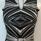 Black & Silver Exotic Print Tank Top - Coolwear (Small)