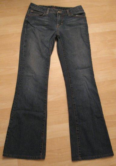"""Dark Blue 5 Pocket Denim Flare Jeans - FRX (Size 7, Medium, 27"""" Waist)"""