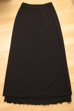 Sexy Long Black Sheer Layered Dress Skirt with Frilled Base - Charlotte Russe (Small)