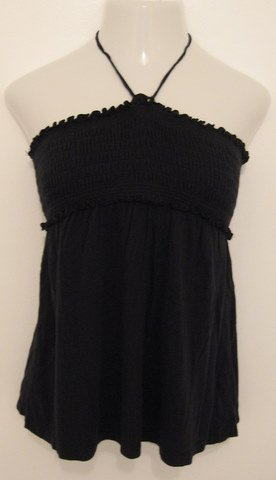 Black Halter Cover Up with Tie at Neck - So Wear It Declare It (Medium)