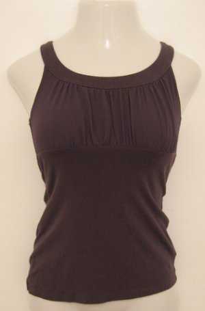 Trendy Brown Career Tank Top - Express (Extra Small)