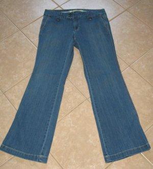 Medium Wash Denim Blue 4 Pocket Jean Flares Long & Lean - G.A.P (Size 10R)