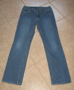 Medium Blue Denim Wash Bootcut 5 Pocket Jeans - Fubu Classics (Size 9/10)