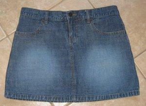 Dark Denim Blue 2 Pocket Mini Jean Skirt - Outlooks (Size 5, Small)