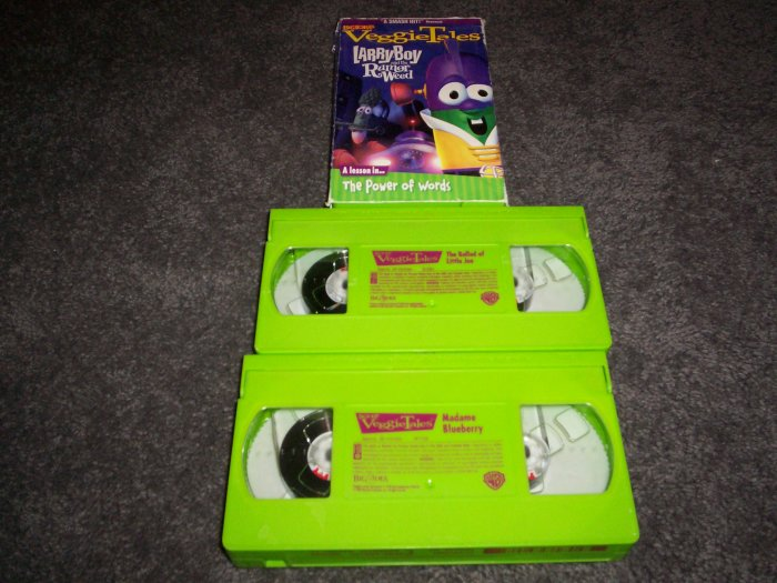 3 Veggie Tales VHS Tapes