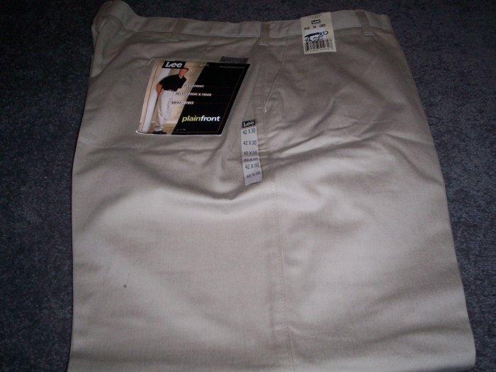 Men's Lee Khaki Slacks size 42X30 NWT