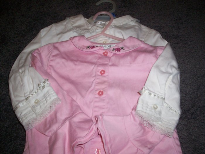 24M Girl's George Shirts White and Pink