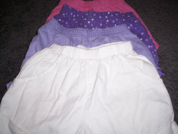 5 pairs Toddler shorts size 2T/24M