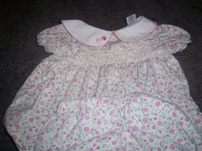 Two Piece Baby UR-IT White and Pink Outfit Size 6/9m 100% Cotton