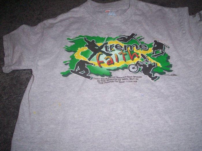 Boy's Hanes Tagless Te-Shirt W/Decal Xtreme Faith