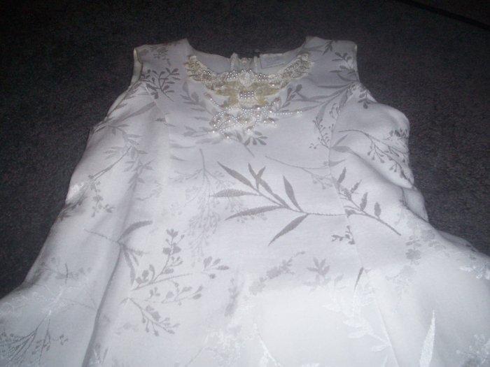 Girl's White Popaye Kid Dress Size 6