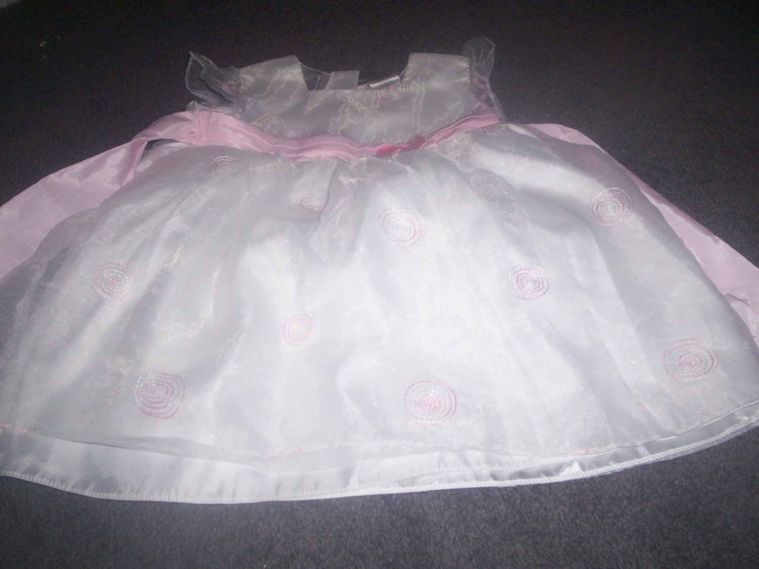 Girl's White and Pink Easter Dress Size 4T