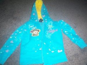 Girls's Blue Hooded Zippered Sweat Shirt size 4T Bobby Jack Girl's