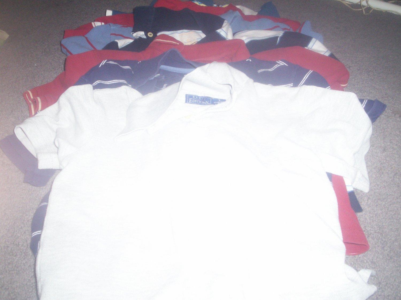7 Boy's Polo Style Shirts
