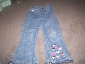 Toddlers 4T Heart Jeans by Nickelodeon