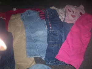 Girl's Size 4T Lot 6 Pants and 4 Shirts