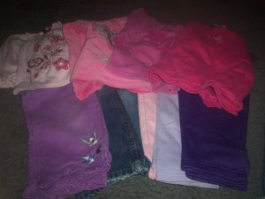 Girl's Size 4T Lot 4 Shirts and 6 Pairs of Pants