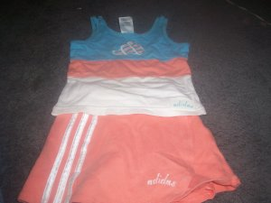 Girl's Two Piece Short Set Size 3T by Adidas