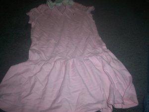 Girl's Size 4T Short Sleeve Collar Teeshirt Dress Pink