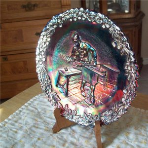 Fenton Carnival Glass 1970 Craftsman of America Plate No.1
