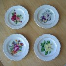 Vintage Floral Miniature Plates or Butter Pats Scalloped