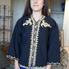 Vintage Ethnic Moroccan Short Caftan Jacket Boho Hippie