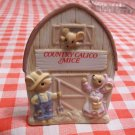 Country Colico Mice 1980s Enesco Vintage Display Store Sign Mouse Plaque