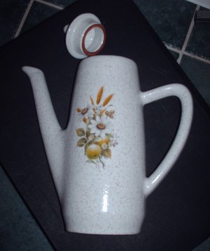 Country Charm Blue Mountain Pottery Coffee Pot Canadian Home Decor