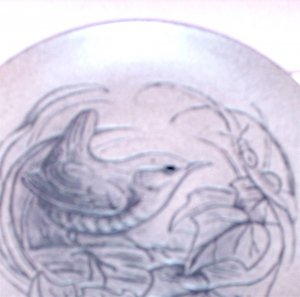 Barbara Adams Stoneware Pin Dish Wildlife Series Poole Pottery BLA England