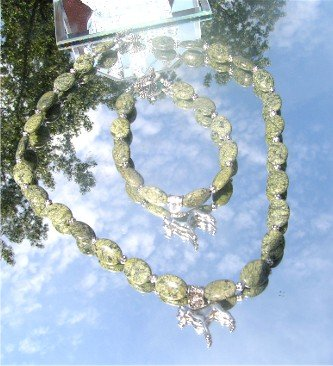 Rhyolite Cropped/uncropped Boxer Dog Pewter Pendant Bead Necklace Bracelet Set