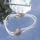 Seed Bead and Ocean Jasper Ankle Bracelet  #1002