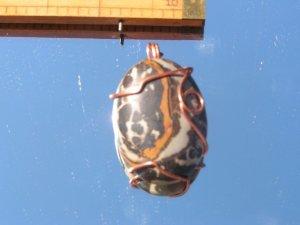 Copper Wire Wrapped Agate Cab  #27a