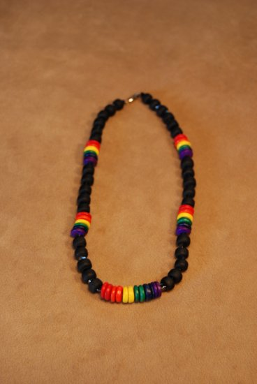 CoCo and Crow Bead Rainbow Necklace