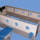 New Custom Wooden Passenger Jet AIRPLANE TWIN BED