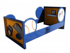 Sports Theme Toddler Bed for Boys Room, Any Sport/Team/Colors