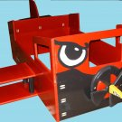 Wooden Airplane Toddler Bed II with Wings, Windows & Propeller