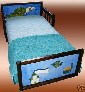 Wooden Mermaid Girls Toddler Bed
