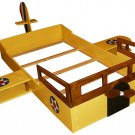 New Custom Wooden AIRPLANE TWIN BED w/ Windows & Propeller