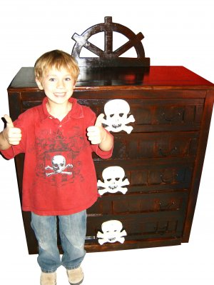 Wood Dresser Pirate Theme for Kids Room