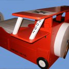Bi Wing Toddler Bed  Airplane Bed with built-in 4 Drawer Dresser