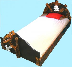 New Pirate Bed Twin Bed Black Bed Boys Bed good with pirate decor