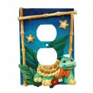 Zootles Jungle-Themed Outlet Cover with Turtle