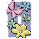 Bedtime Butterfly Single Switch Plate by Borders Unlimited