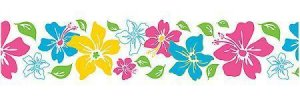 Wall Pops Island Fusion in Pink 1 Stripe Wall Border Wall Art Strip